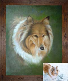 Dog portraits: Paintings from photographs
