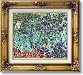 Irises at Saint Remy - Famous paintings (by Van Gogh)